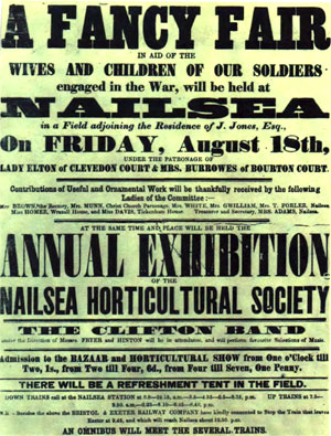 Advert from 1916 for a Fancy Fair at Nailsea