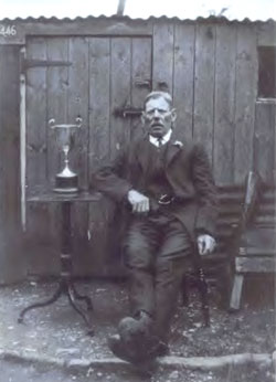 Mr Thomas Harvey pictured in the 1920s with the Cottagers Cup